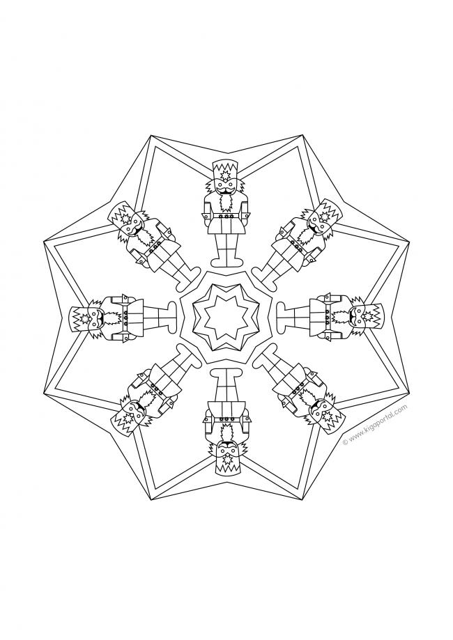 Nussknacker-Mandala